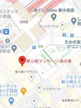 新小岩マッサージ「森の香」地図